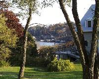 View toward ocean from lawn in front of White and Creel Cottages