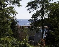 View toward ocean from porch of Search Cottage