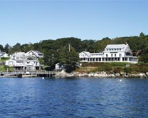 View of Gosnold Arms Inn from the Harbor